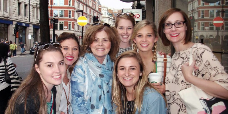 London Fashion Tour with Student from USA, May 2015 just before tea