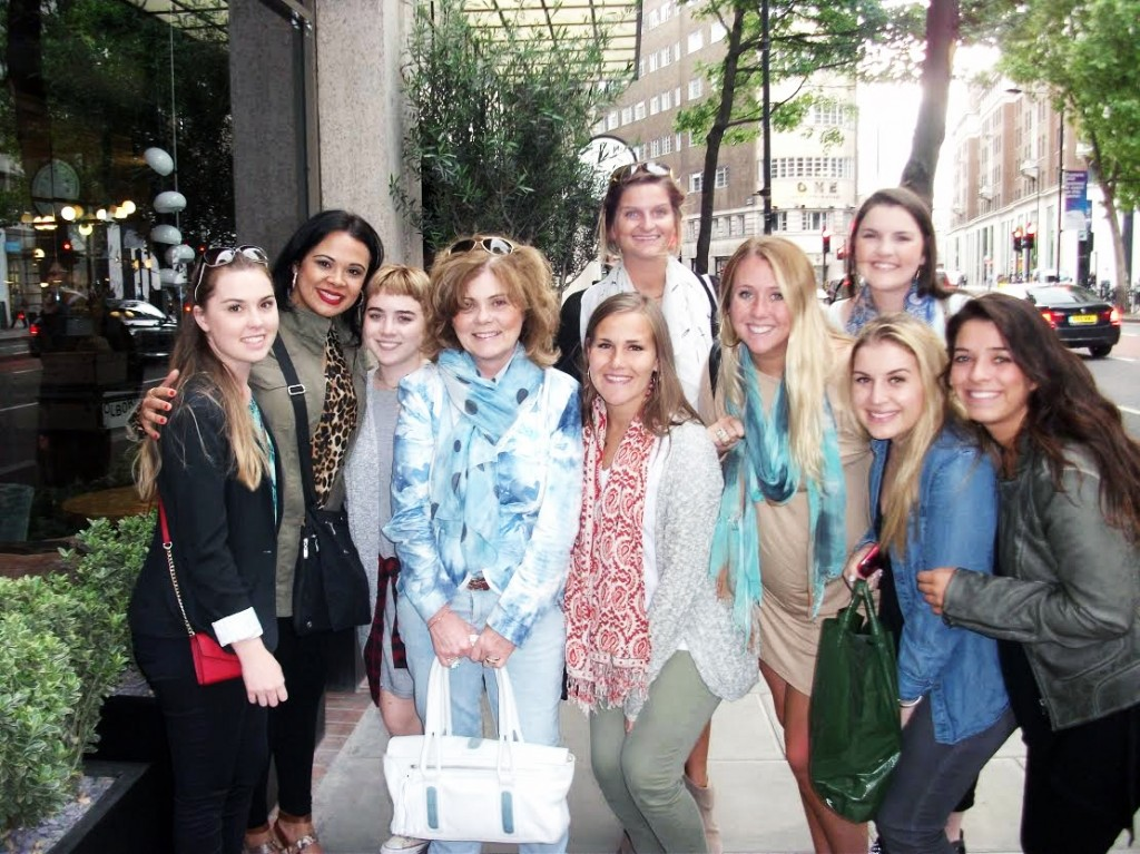 London Fashion Tour with Student from USA, May 2015